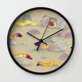 White-eyed Moray Eels Wall Clock