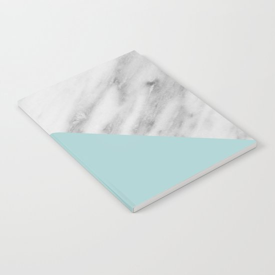 Ice Color Marble Collage Notebook