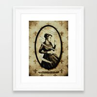 mercedes Framed Art Prints featuring Dark Eyes: Mercedes Fabron by Chris Chelser
