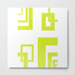 4.7 - frames - yellow Metal Print