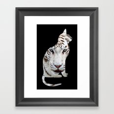 BIG AND SMALL CAT Framed Art Print