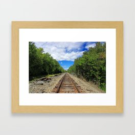 Beautiful Day Train Tracks Framed Art Print