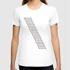 Revolution Womens Fitted Tee LARGE White