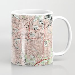 Greensboro North Carolina Map (1997) Coffee Mug