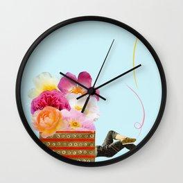 laid back Wall Clock