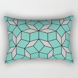 Penrose tiling sphere, grayish opal and medium gray Rectangular Pillow