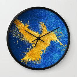 Hummingsplat Gold Wall Clock