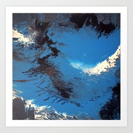 Blue Abstract Painting Art Print