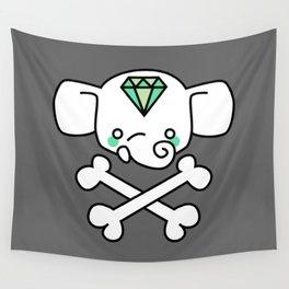 hello malcolm ellie skull Wall Tapestry