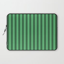 Emerald Green Stripes Pattern Laptop Sleeve