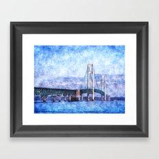 The Mackinac Bridge Framed Art Print