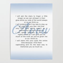 Avow, a Poem Poster