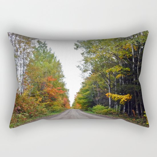 Forest Road in the Fall Rectangular Pillow