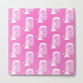 Tuba Pattern Pink Metal Print