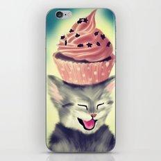 Cupcake Kitten iPhone & iPod Skin
