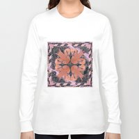 flamingos Long Sleeve T-shirts featuring Flamingos  by Galvanise The Dog