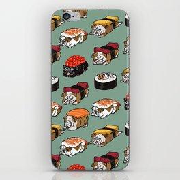 Sushi English Bulldog iPhone Skin