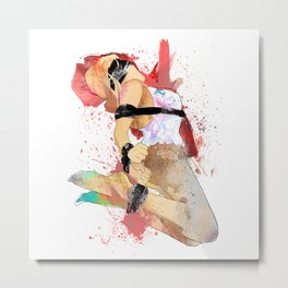 Shibari - Japanese BDSM Art Painting #6 Metal Print