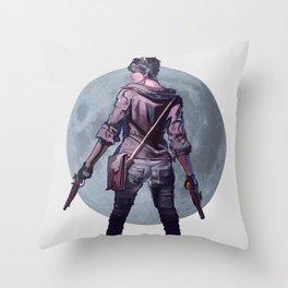 Moon girl Throw Pillow
