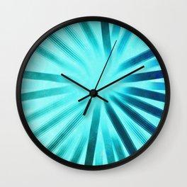 Intersecting-Aqua Wall Clock