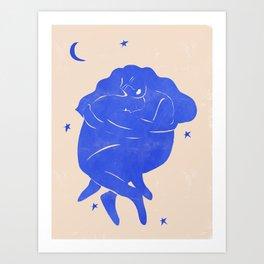 Blue Part II Art Print