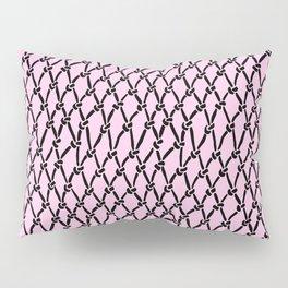 Fishing Net Black on Blush Pillow Sham