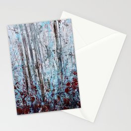 Autumn Smoke - Misty Autumn Forest Scene Stationery Cards