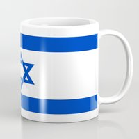 israel Mugs featuring Flag of Israel by Neville Hawkins