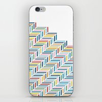 Herringbone Color Part iPhone & iPod Skin