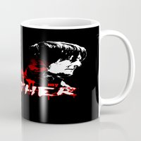 rick grimes Mugs featuring Daryl Dixon and Rick Grimes by artandawesome