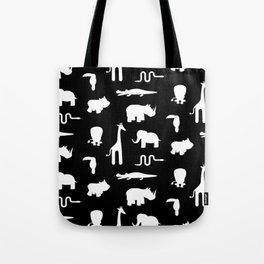 Exotic white animals pattern Tote Bag