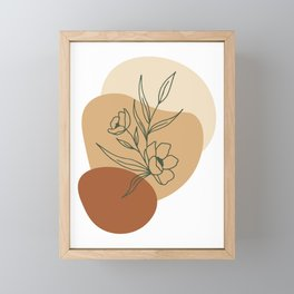 Abstract minimal floral Graphic Collection Framed Mini Art Print