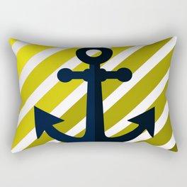 Ancor on lime stripes Rectangular Pillow