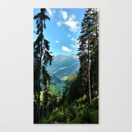 forest panorama kaunertal alps tyrol austria europe Canvas Print