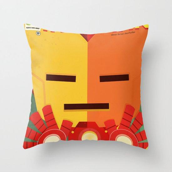 ironman fan art Throw Pillow