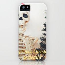 love xmas iPhone Case