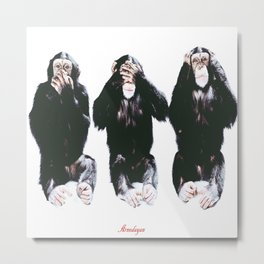 The three wise monkeys Metal Print