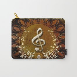 Music, wonderful decorative clef Carry-All Pouch