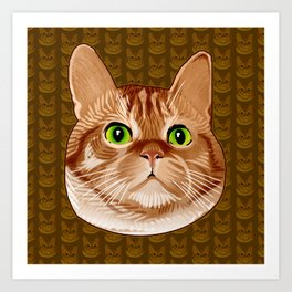 Roswell the Cat Art Print