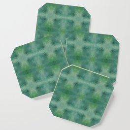 Kaleidoscopic design in green colors Coaster