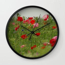 First World War Poppies Wall Clock