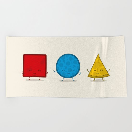 Bauhaus Pizza - Cute Doodles Beach Towel