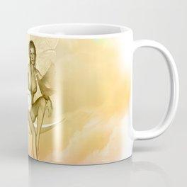 Wonderful fairy on a moon with dove Coffee Mug