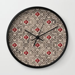 Chinese New Year of The Rat Pattern Wall Clock