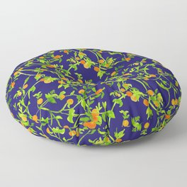 Golden Lamps, Green Night Floor Pillow
