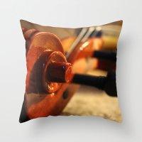 violin Throw Pillows featuring Violin by Allan Delph