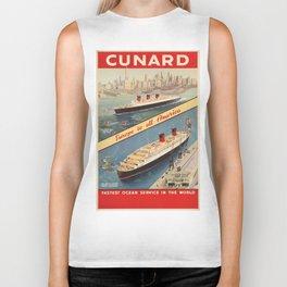 Vintage poster - Cunard Biker Tank