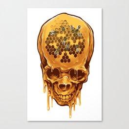 skull of honey Canvas Print