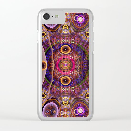 Groovy tribal colourful patterns Clear iPhone Case