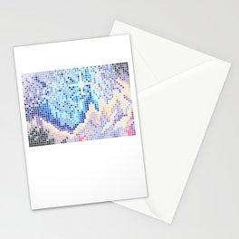 Pixelated Nebula Blue Stationery Cards